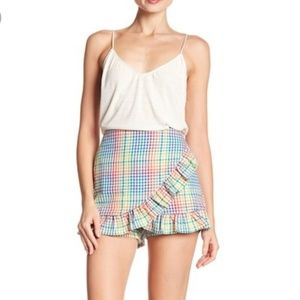 Romeo + Juliet Couture gingham skort size M nwt